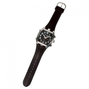Tel-Time Mens Low Vision Talking Watch- Black Face