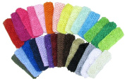 3.8cm Crochet Headbands Assorted 28 Variety Pack for Babies Infants and Toddlers