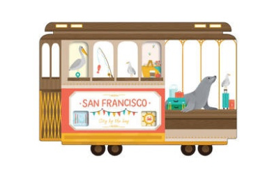 San Francisco Cable Car Shaped Cover Sticky Notes: A Pencil Set with 10 Shades of Inspiration