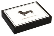 Alice Scott Vintage Prints Dapper Dachshund Luxe Thank You Notes