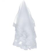 Loveshop 1t White Beautiful Fingertip Length Wedding Bridal Veil 3 Metres Long--white