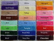 Baby Women Girl Crochet Elastic Hair Bands Headband Mixed Colours Pack of 24pcs By Catalina