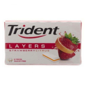 6X Chewing Gum Trident Layers Strawberry Citrus 26.4 g.