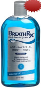 BreathRx Anti-Bacterial Mouth Rinse, 470ml Bottles