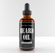 Beard Oil and Conditioner, Fragrance Free, Glass Bottle with Glass Dropper, Gives You a Respectable Beard That Is Healthy Looking, and Kissable