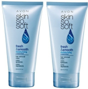 2 Avon SKIN SO SOFT Fresh & Smooth Moisturising Hair Removal Cream