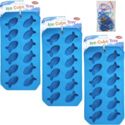 3-Pack Flexible Goldfish Gold Fish Ice Cube Trays, Chocolate Moulds, Jello Jiggler Moulds, and Soap Moulds - Great Christmas Gifts for 2013