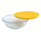 World Kitchen Pyrex Brick Textured Mixing Bowl with Yellow Lid, 3.8l