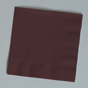 100 gorgeous Chocolate Brown beverage/cocktail napkins for wedding/party/event, 2ply, disposable, 13cm x 13cm , Made in USA