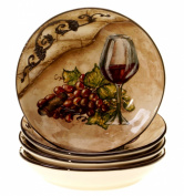 Certified International Tuscan View Soup/Pasta Bowl, 24cm , Set of 4