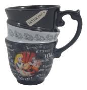 DISNEY PARKS EXCLUSIVE : Alice in Wonderland Quotes 350ml Ceramic Cup