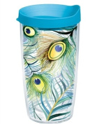 Tervis Tumbler Peacock Feathers Wrap 470ml with Travel Lid
