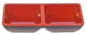 Black/Red Melamine Two Compartment Sauce Dish #333-BR