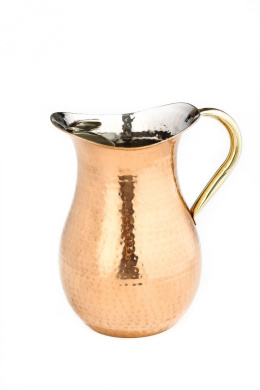 1 1/1.9ls Decor Copper Water Pitcher with Ice Guard