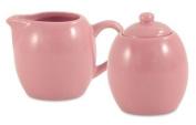 Pink Rose Ceramic Creamer & Sugar Service Set