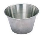 6- Stainless Steel 70ml Dip/Sauce/Condiment Cups