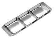 Wilton Armetale Flutes and Pearls Divided Tray, Rectangular, 15cm by 50cm