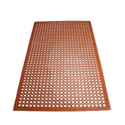 Winco RBM-35R Anti-Fatigue Floor Mat, 0.9m by 1.5m by 1.3cm , Grease-Resistant Red