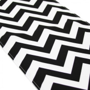 Koyal Chevron Table Runner, 30cm by 270cm , Black