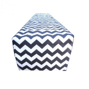 Decorative Cotton in Black and White Chevron Print Table Runner. 30cm X 180cm