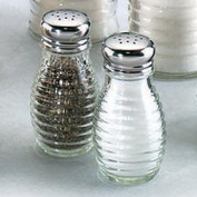Beehive Glass Salt and Pepper Shakers with Stainless Steel Tops