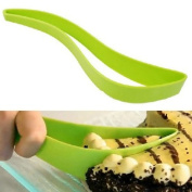 Mokingtop Fashion New Green Plastic Kitchen Cut Cake Pie Slicer Cutter Server Bread Tools