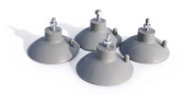 New Star Foodservice 39665 Suction Cup Feet for Industrial Commercial French Fry Cutter, Set of 4