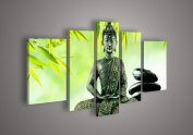Buddha Paintings Canvas God Green Painting Religion Art On Canvas Textured Abstract Oil Paintings For Home Decor