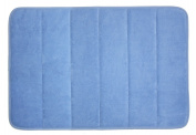 J & M Home Fashions Classic Memory Foam Bath Mat, 43cm by 60cm , Blue