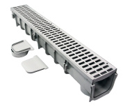 NDS 864G 13cm Pro Series Channel Drain, Grey