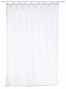 Carnation Home Fashions Fabric Stall Size Shower Curtain Liner, White