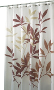 InterDesign Leaves Fabric Shower Curtain 72 x 72, Brown