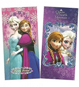 Disney Frozen Elsa & Anna 100% Cotton Beach Towel, Pack of Two