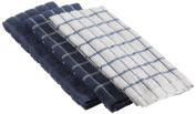 """Ritz 100% Cotton Terry Kitchen Dish Towels, Highly Absorbent, 25"""" x 15"""", 3-Pack, Federal Blue"""