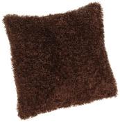 Brentwood Fifi Knife Edge 46cm Pillow, Brown