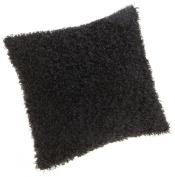 Brentwood Fifi Knife Edge 46cm Pillow, Black