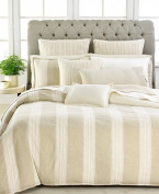 Lauren by Ralph Lauren Modern Naturals Cream & Sand Large Stripe KING Duvet Cover