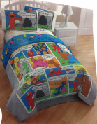 Sesame Street Comic Comforter in Full Size w/ 2 Shams ~ Elmo, Cookie Monster, Big Bird & Oscar the Grouch