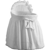 Baby Doll Sea Shell Bassinet Bedding, White