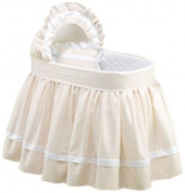 Baby Doll Bedding Darling Pique Bassinet Bedding, Ecru