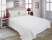 All for You 3pc Reversible Quilt Set, Bedspread, and Coverlet-white