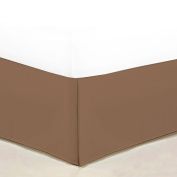 1500 Thread Count Bedskirt/Dust Ruffle Egyptian Quality Deep Pocket - All Sizes, 12 Colours - Twin, Brown
