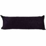 Black Microsuede Body Pillow Cover Zippers