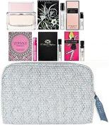 Women's Fragrance Sampler Set (1 Mini Bottle & 5 Vials) Givenchy, Prada, Versace, Nest, L'Artisan