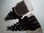 3 Way Part 4*4 Lace Top Closure 25cm Peruvian Virgin Remy Hair Deep Wave natural colour Can Be Dyed