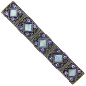 Black-Tone Tanzanite Crystal and Mother of Pearl Barrette