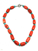 Pink & Turquoise Stone Bead Necklace