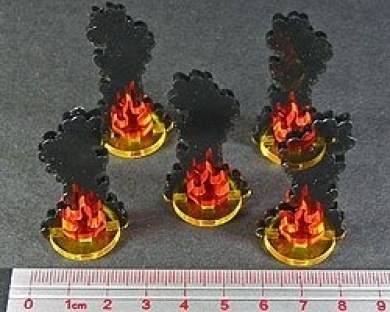 Medium Flaming Wreckage Markers (5)