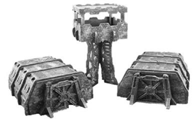 Sci-Fi Terrain: Barracks (3)