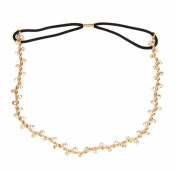 JY Jewellery Fashion Metal Head Gold plated Chain Rhinestone hair band head piece flower rhinestone head band HBQQ1